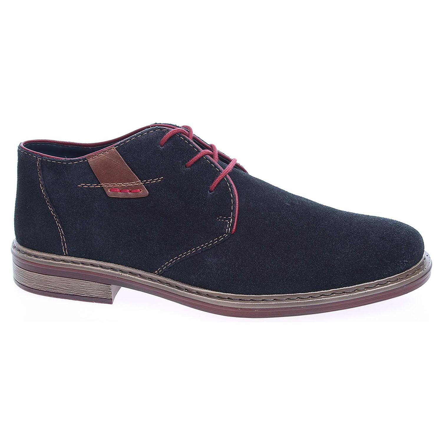 c2ad1c5a4 Pánska členkové topánky Rieker 17632-14 modré   REJNOK obuv