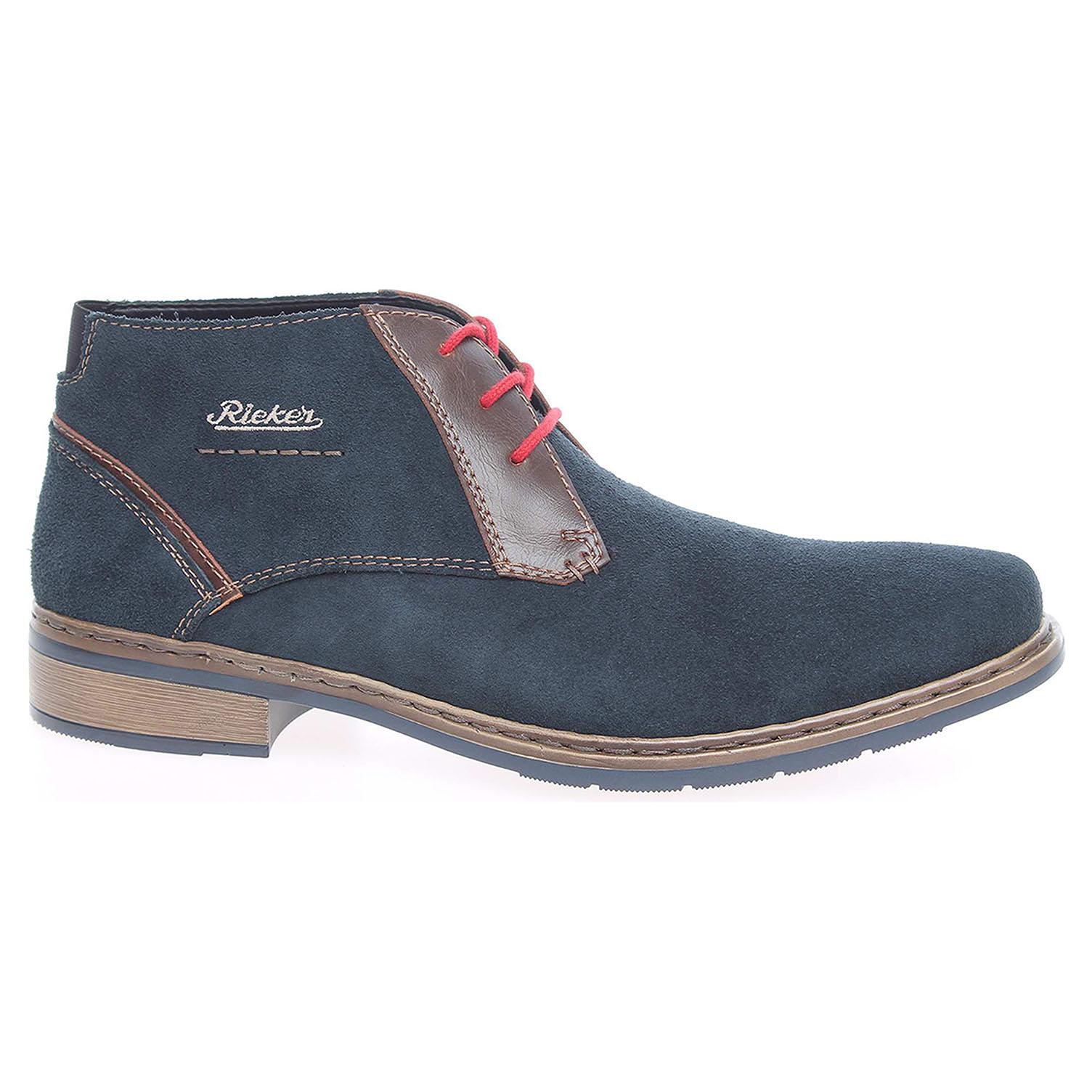 ff1e63b83 Pánska členkové topánky Rieker 30813-14 modré   REJNOK obuv