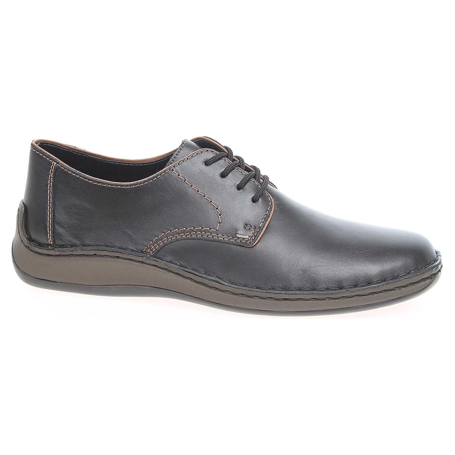 280473d916321 Pánske poltopánky Rieker 05220-00 schwarz | REJNOK obuv