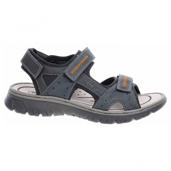 565c8d444238 detail Pánske sandále Rieker 26757-14 blau kombi