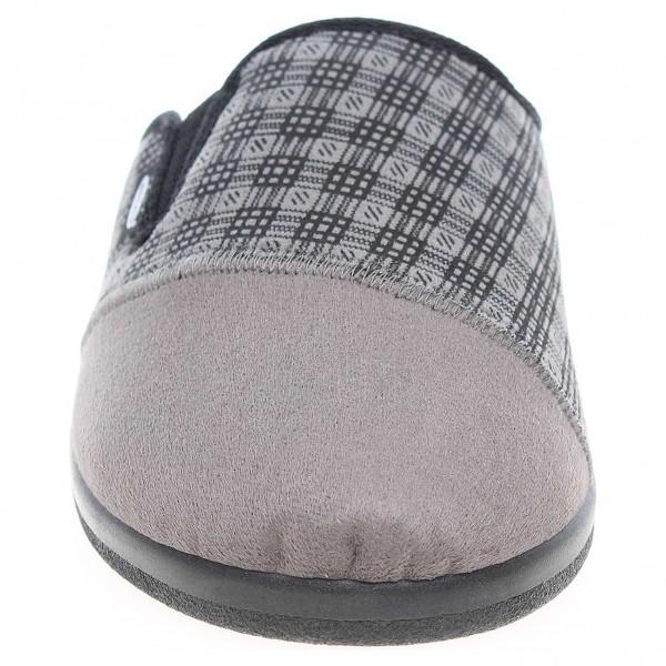 detail Rogallo pánské domácí pantofle 6074-T73 šedé 3a6f83c24c