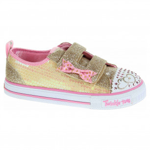 Skechers S Lights-Shuffles - Itsy Bitsy gold-pink