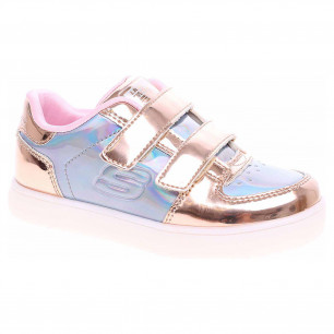 Skechers S Lights-Energy Lights - Lil Metallics rose gold