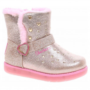 Skechers S Lights-Glitzy Glam - Sparkle Heartz gold-pink