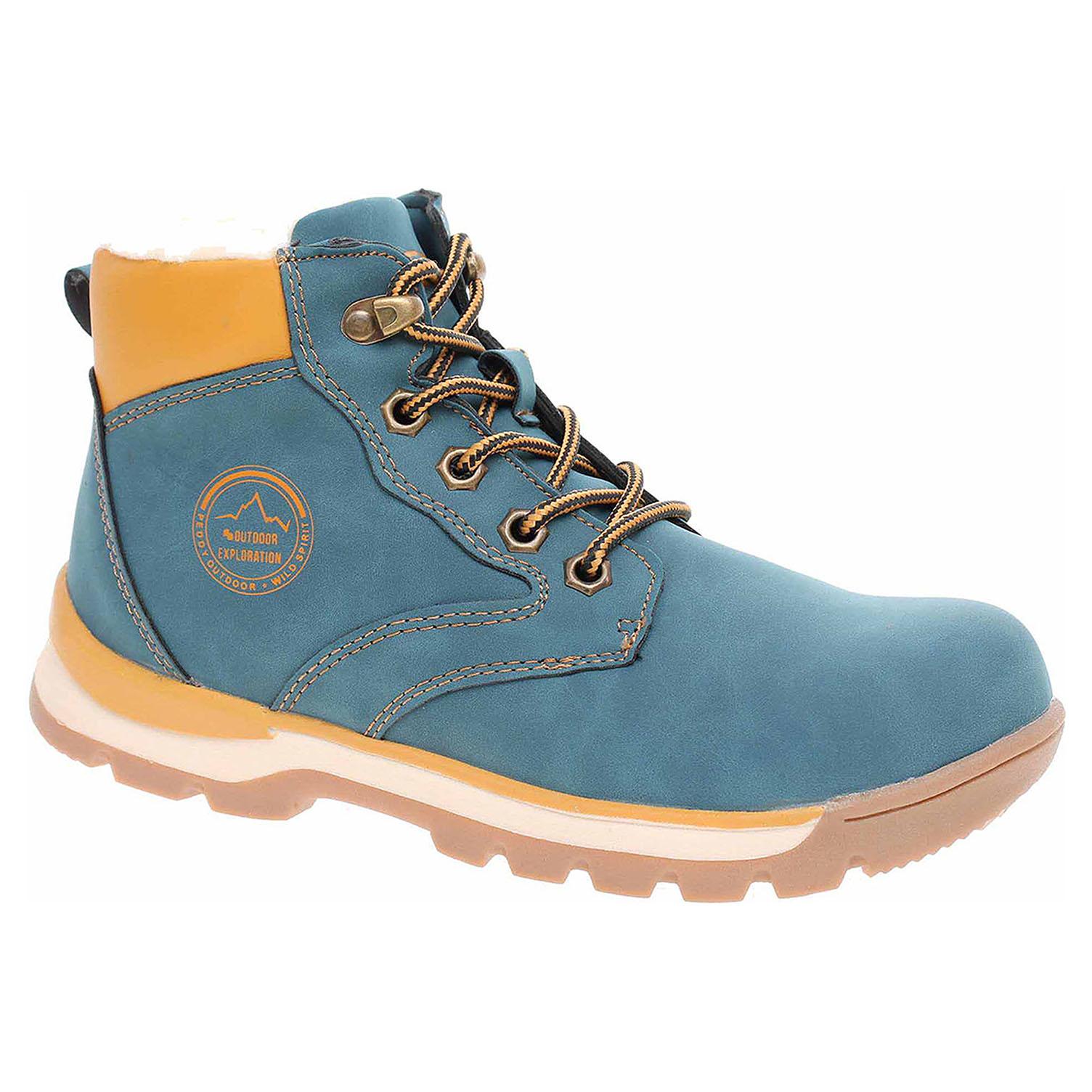 29b73ec5fbf78 Chlapecká členkové topánky Peddy P1-536-37-04 navy | REJNOK obuv