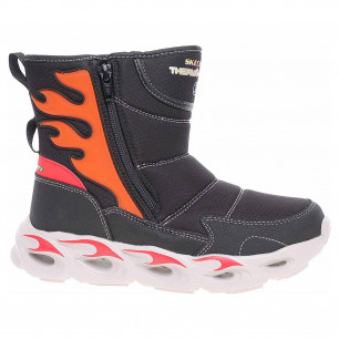 Skechers S Lights-Thermo-Flash - Heat Storm black-red